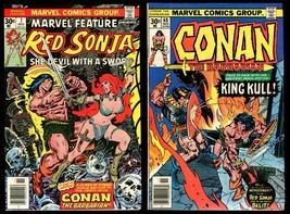 Marvel Feature 7 Red Sonja vs Conan the Barbarian 68 vs King Kull Comic Set Lot - $20.00