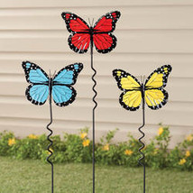 Butterfly Lawn Stakes by Maple Lane Creations - Set of 3 - $17.74