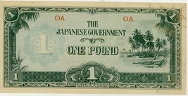 Japanese Government Oceania One Pound Note VF+ - $34.99