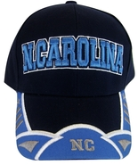 North Carolina Men's 2-Tone Curved Brim Adjustable Baseball Cap Black/Blue - $11.95
