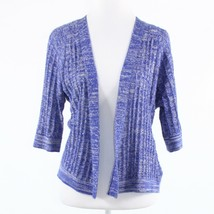 Purple gray space dyed wool blend ANTHROPOLOGIE SPARROW cardigan sweater S - $29.99