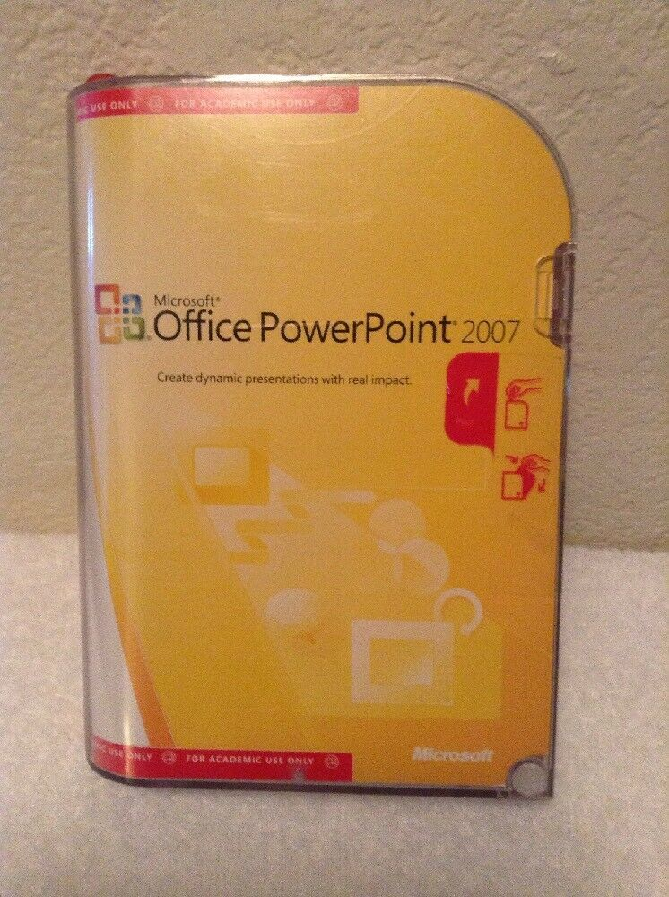 NEW Microsoft Office PowerPoint 2007 Version Upgrade with Product Key