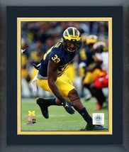 Taco Charlton Michigan Wolverines 2016 Action - 11x14 Matted/Framed Photo - $42.95