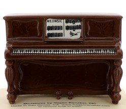 Hagen-Renaker Miniature Ceramic Figurine Upright Piano for Keyboard Cat Meowsic