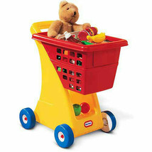 Little Tikes Shopping Cart Sturdy Deep Basket Toy Play Game Kids - Yello... - $1.97