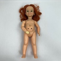 Vintage Ideal Toy Co Red Haired Doll 1971 Hard Plastic 16 Inches No Clot... - $32.99