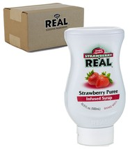 Strawberry Reàl, Strawberry Puree Infused Syrup, 16.9 FL OZ Squeezable B... - $13.26