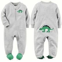 NEW NWT Boys Carter's PREEMIE Premature Sleeper Sleep and Play Dinosaur ... - $11.99