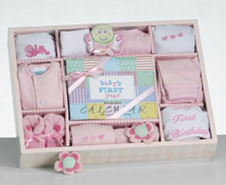 Baby Girl's First Year Calendar Gift Set