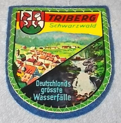 Primary image for Triberg Schwartzwald Black Forest Souvenir Travel Patch Germany, Blue backing