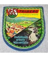 Triberg Schwartzwald Black Forest Souvenir Travel Patch Germany, Blue ba... - $5.95