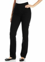 Chic Classic Collection Women's Easy Fit Elastic Waist Pant, Black, 12 R... - $14.20