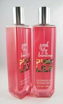 (2) Bath & Body Works Pink Lily & Bamboo Fine Fragrance Mist 8oz - $17.96