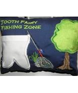 Handmade Statement Fishing Zone Tooth Fairy Pillow  - $25.00