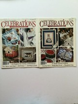 A Leisure Arts Publication Celebrations To Cross Stitch And Craft  Lot o... - $4.94