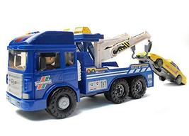Daesung Toys Melody Police Tow Towing Truck Car Vehicle Heavy Equipment Playset
