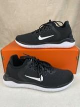 Nike Women's Free RN 2018 Black White Running Shoes 942837-001 Size 5.5 NEW - $99.00