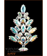 Eisenberg Ice Signed Aurora Borealis Rhinestone Christmas Tree Pin (#J978) - $110.00