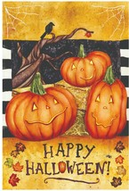Spooky Trio Halloween Garden Flag - 12 x 18 inches - $8.79