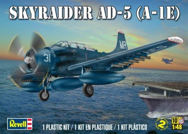 Revell 1/48 Skyraider AD-5 A-1E Model Kit