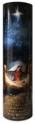 The nativity   led flameless devotion prayer candle