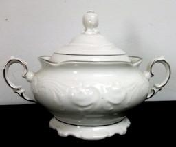Vintage Walbrzych Poland Platina Sugar Bowl - Excellent! - $19.79