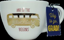 Graduation Gift Coffee Mug And So the Adventure Begins - $19.99