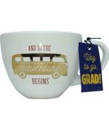 Graduation Gift Coffee Mug And So the Adventure Begins - £14.35 GBP