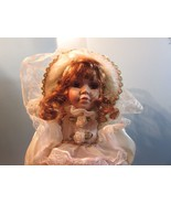 """Fine porcelain 14"""" Jenny Faith collection doll red/brown hair pink dress... - $29.70"""