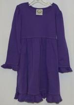 Blanks Boutique Long Sleeve Empire Waist Purple Ruffle Dress Size 5T image 1