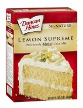 Ducan Hines Signature, Lemon Supreme Cake Mix, 15.25oz Box (Pack of 4) - $27.99