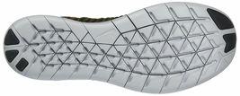 Men's Nike Free RN Flyknit Running Shoes, 831069 301 Sizes 8.5-13 Khaki/Blk/Mang image 4