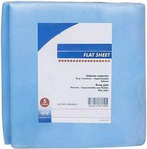"""Blue Disposable Flat Sheets 85"""" x 41"""" Fluid Resistant - $16.31+"""