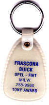 Key Ring For Frascona Buick-Opel-Fiat, Wauwatosa, WI - $4.99