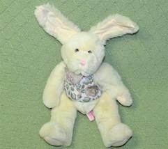"Russ Berrie Berrymore Bunny Stuffed Animal 14"" Rabbit Wired Ears Tapestry Vest - $21.78"