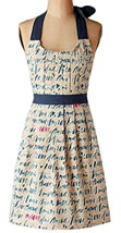 Anthropologie My Love Apron Cotton Text + Hearts Shower Hostess Mom Gift... - £29.11 GBP