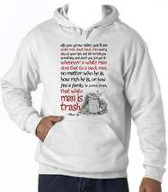 Harper Lee As You Grow Older Quote - New Cotton White Hoodie - $39.10