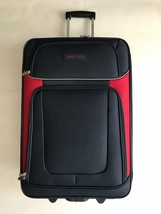 "NEW Nautica Oceanview Luggage Navyred Suitcase Size 24"" - $74.79"