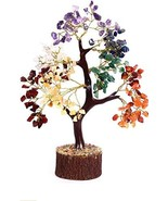 DHYANARSH 7 Chakra Semi Precious Agate Stone Tree with Holistic Balancin... - $24.96