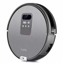 ILIFE V80 Robot Aspirador, Negro/Plateado - $251.98