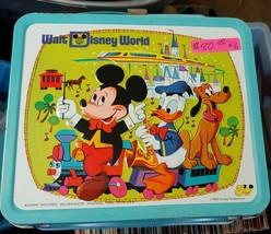 Vintage Metal Walt Disney World Lunch Box No Thermos - $80.00