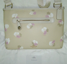 COACH BONE FLORAL PRINTED LEATHER CROSS BODY/SHOULDER HANDBAG,TURN-LOCK+... - $117.81