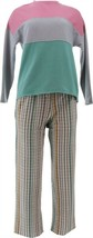 Cuddl Duds Comfortwear Petite Length Pajama Set Pink Houndstooth PS NEW ... - $27.70