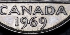1969 Canada Nickel - 5 Cents Coin **DOUBLE DATE ERROR** Great Condition - $3.45