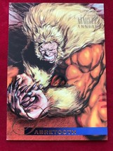 Marvel Flair Annual 1995 #10 Sabretooth Single Card - $4.99