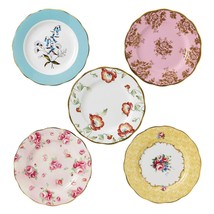 """Royal Albert 100 Years 1950-1990 5-Piece Plate 8"""" Set NEW IN THE BOX - $121.54"""