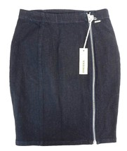 NWT DIESEL Women's Dark Denim De-Trax Pencil Skirt w Side Zipper 28 - $41.39