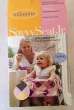 Baby Infant Highchair Cover Infantino Savvy Seat Jr. 2-in-1 Pink Yellow ... - $19.79