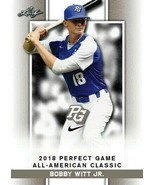 """BOBBY WITT JR. 2018 """"1ST EVER PRINTED"""" LEAF PERFECT GAME AA CLASSIC ROOK... - $9.79"""