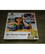 Treehaus 8 Piece Wooden Kitchen Playset NOS Pots Pan Utensils Mitt - $29.99
